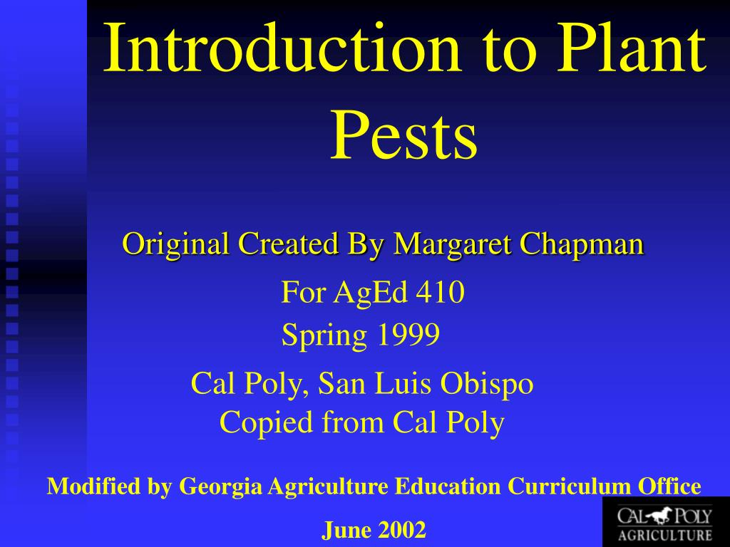 introduction to plant pests l.
