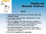 bonding and molecular structure