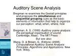 auditory scene analysis23