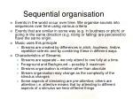 sequential organisation