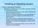 installing an operating system1