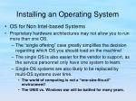 installing an operating system4