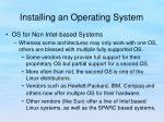 installing an operating system5