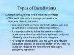 types of installations2