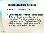 common crediting mistakes