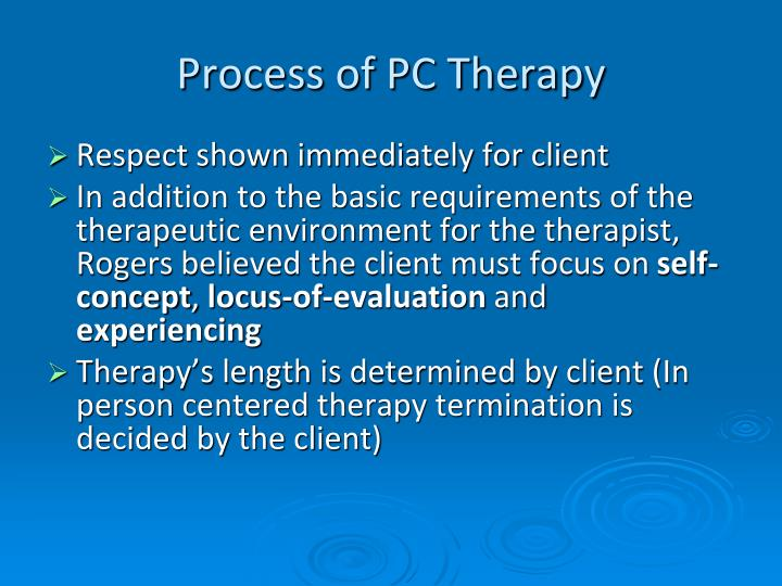 'evaluate the claim that person centred therapy