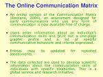 the online communication matrix