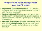 ways to refuse things that you don t want