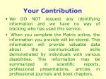 your contribution