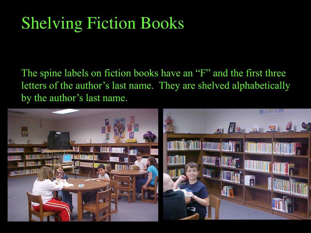 Shelving Fiction Books