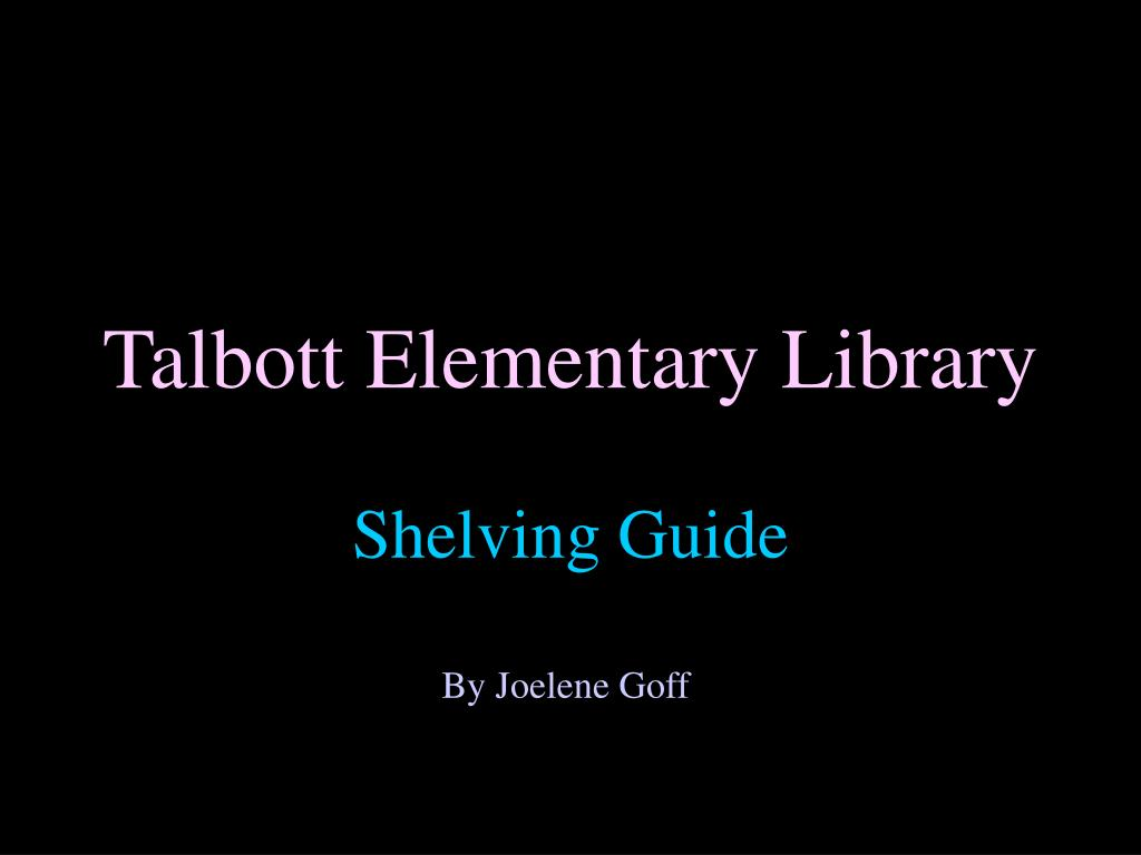 Talbott Elementary Library
