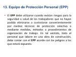13 equipo de protecci n personal epp