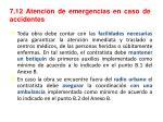 7 12 atenci n de emergencias en caso de accidentes
