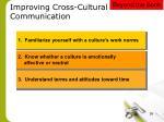 improving cross cultural communication