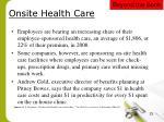 onsite health care
