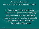 budiarto shambazy kompas sabtu 29 september 2007
