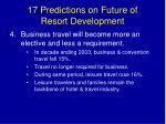 17 predictions on future of resort development6