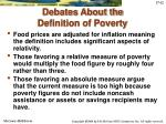 debates about the definition of poverty