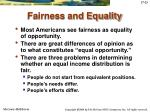 fairness and equality