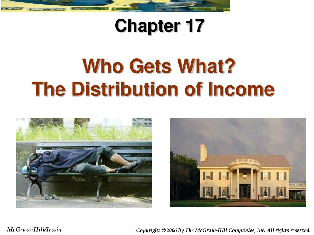 who gets what the distribution of income l.
