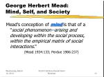 george herbert mead mind self and society