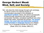 george herbert mead mind self and society11