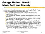 george herbert mead mind self and society13