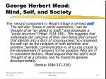 george herbert mead mind self and society14