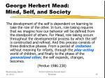 george herbert mead mind self and society15