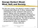 george herbert mead mind self and society16