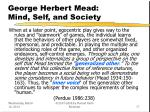 george herbert mead mind self and society17