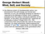 george herbert mead mind self and society19