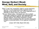 george herbert mead mind self and society20