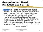 george herbert mead mind self and society21