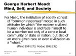 george herbert mead mind self and society22