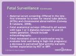 fetal surveillance continued
