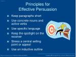principles for effective persuasion