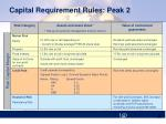 capital requirement rules peak 2