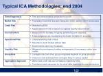 typical ica methodologies end 2004