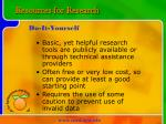 resources for research8