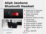 aliph jawbone bluetooth headset