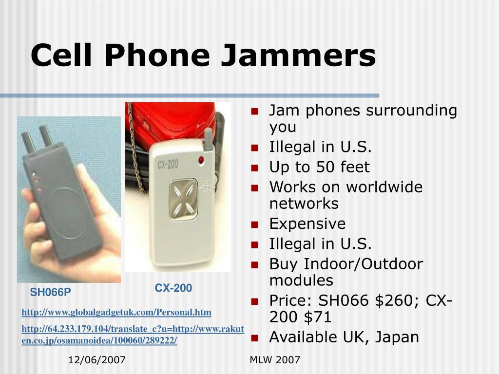Cell Phone Jammers