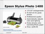 epson stylus photo 1400