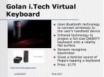 golan i tech virtual keyboard
