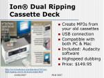 ion dual ripping cassette deck