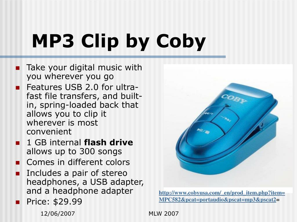 MP3 Clip by Coby