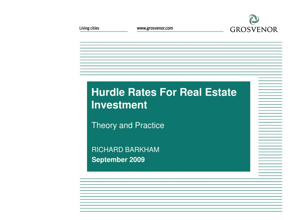 hurdle rates for real estate investment l.