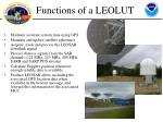 functions of a leolut