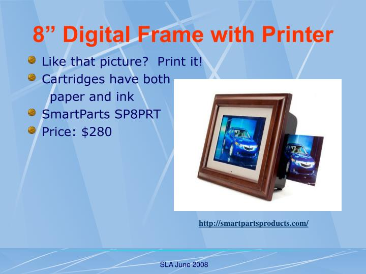 8 digital frame with printer