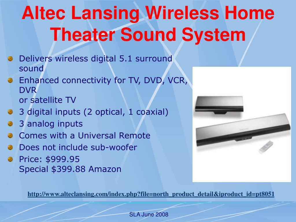 Altec Lansing Wireless Home Theater Sound System